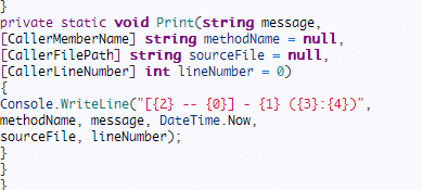 Caller Info Attributes in C# 5.0